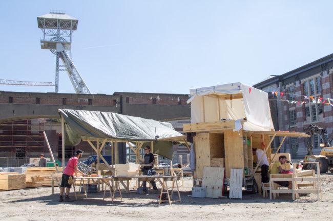 Opbouw The Arch op de Thor Park site (Foto: ConstructLab)