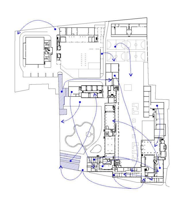Schema overmaat en interne transformaties, Klein Seminarie, Hoogstraten (© re-st / baukuh)