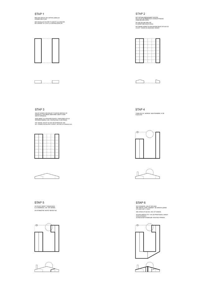 Ontwerpstappen Onthaalpaviljoen Hoge Rielen, Collectief Noord Architecten (foto: Collectief Noord Architecten)