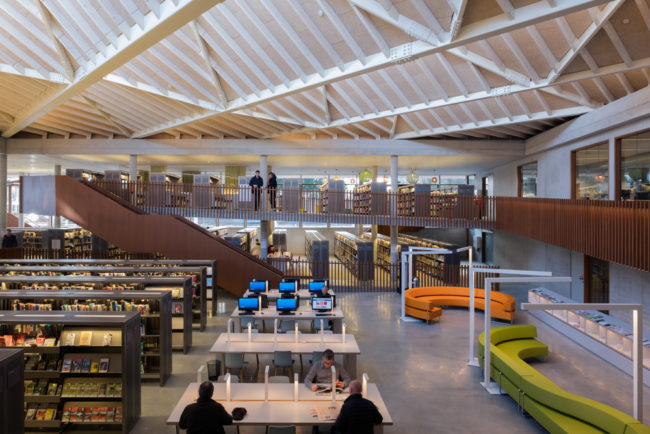 Bibliotheek Waregem, Robbrecht en Daem architecten en Goedefroo+Goedefroo Architecten (Foto: Kurt Beyers)