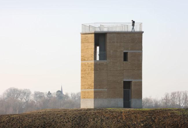 Uitkijktoren Negenoord, De Gouden Lineaal Architecten (Foto: Filip Dujardin)