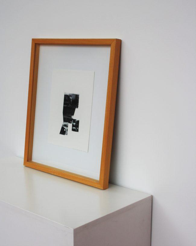 Olivier Goethals, collage: Eén brok oneindigheid, 36 x 27 cm
